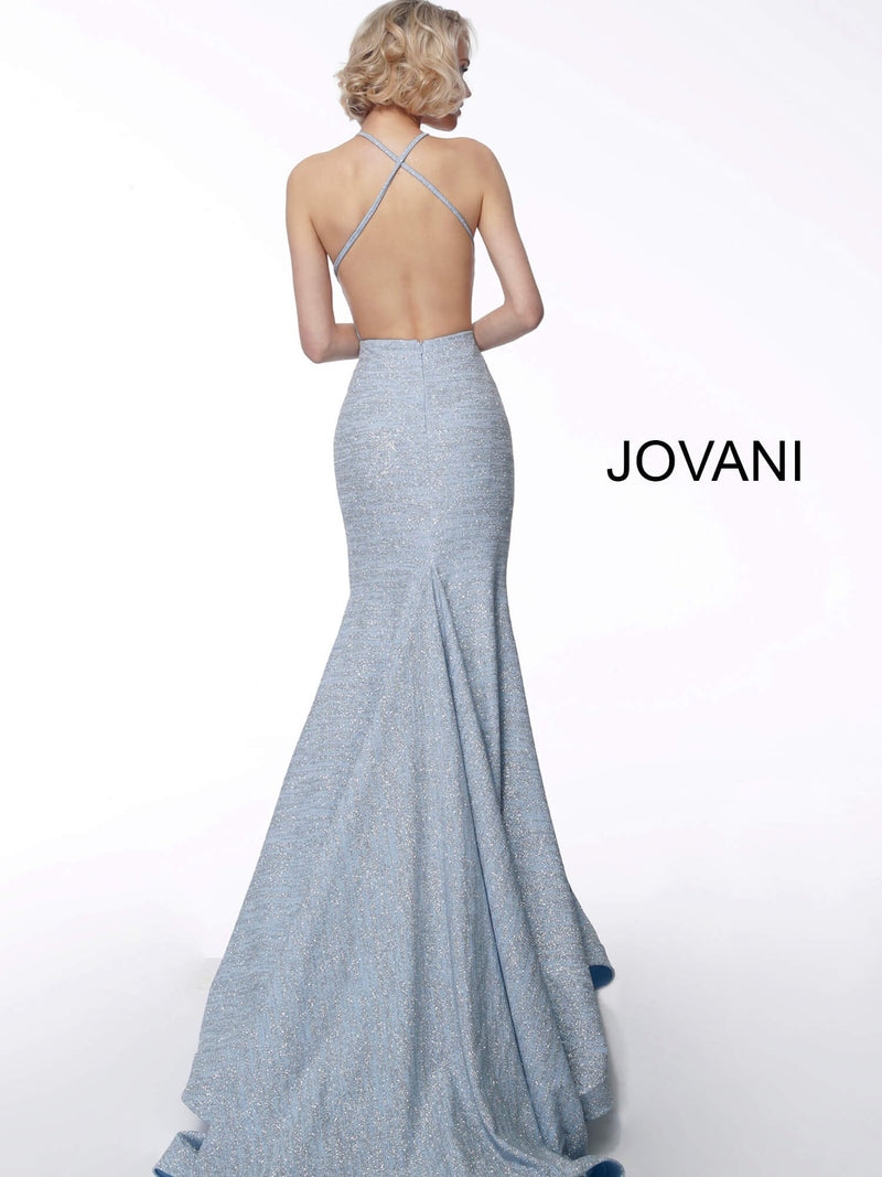 JOVANI 65416 Backless Evening Dress - CYC Boutique