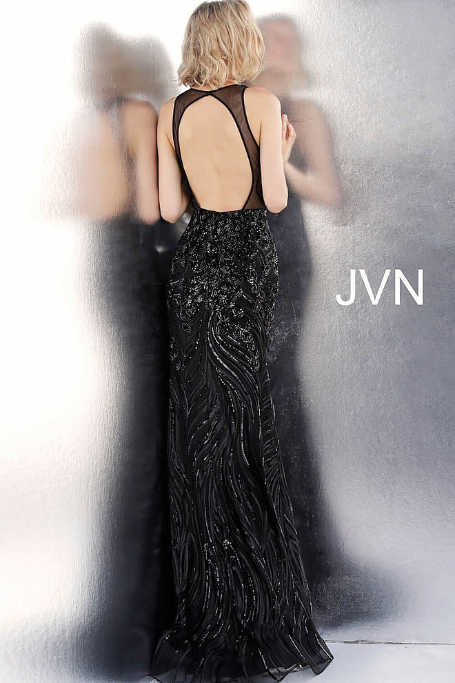 JOVANI JVN66261 Embellished Open Back Evening Dress - CYC Boutique