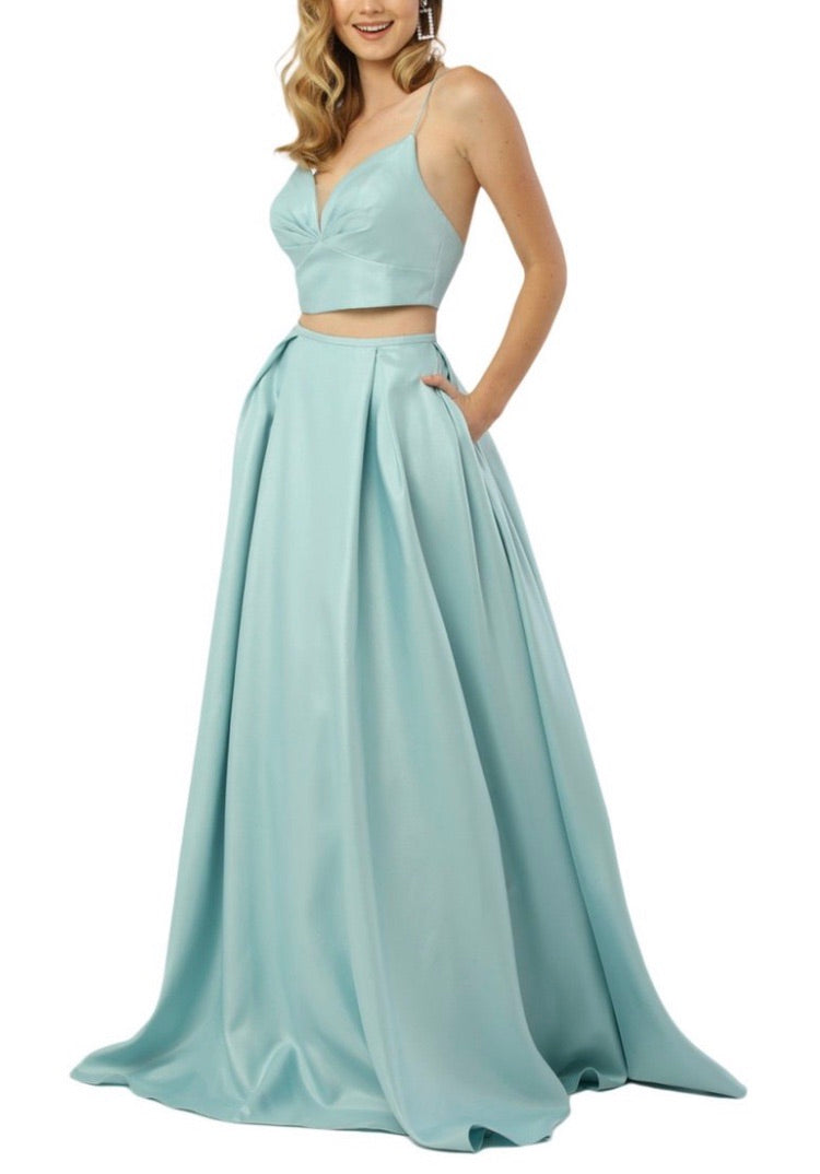 Nox Anabel E161 Sweetheart Crop Top Gown - CYC Boutique