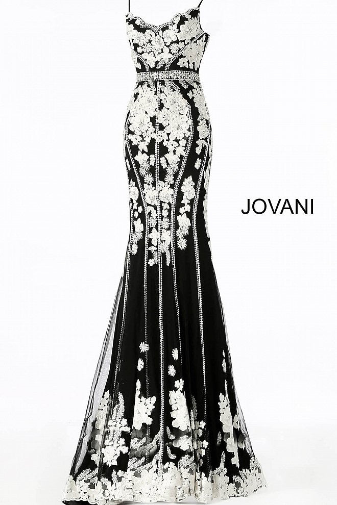 JOVANI 55816 Floral Embellished Dress - CYC Boutique