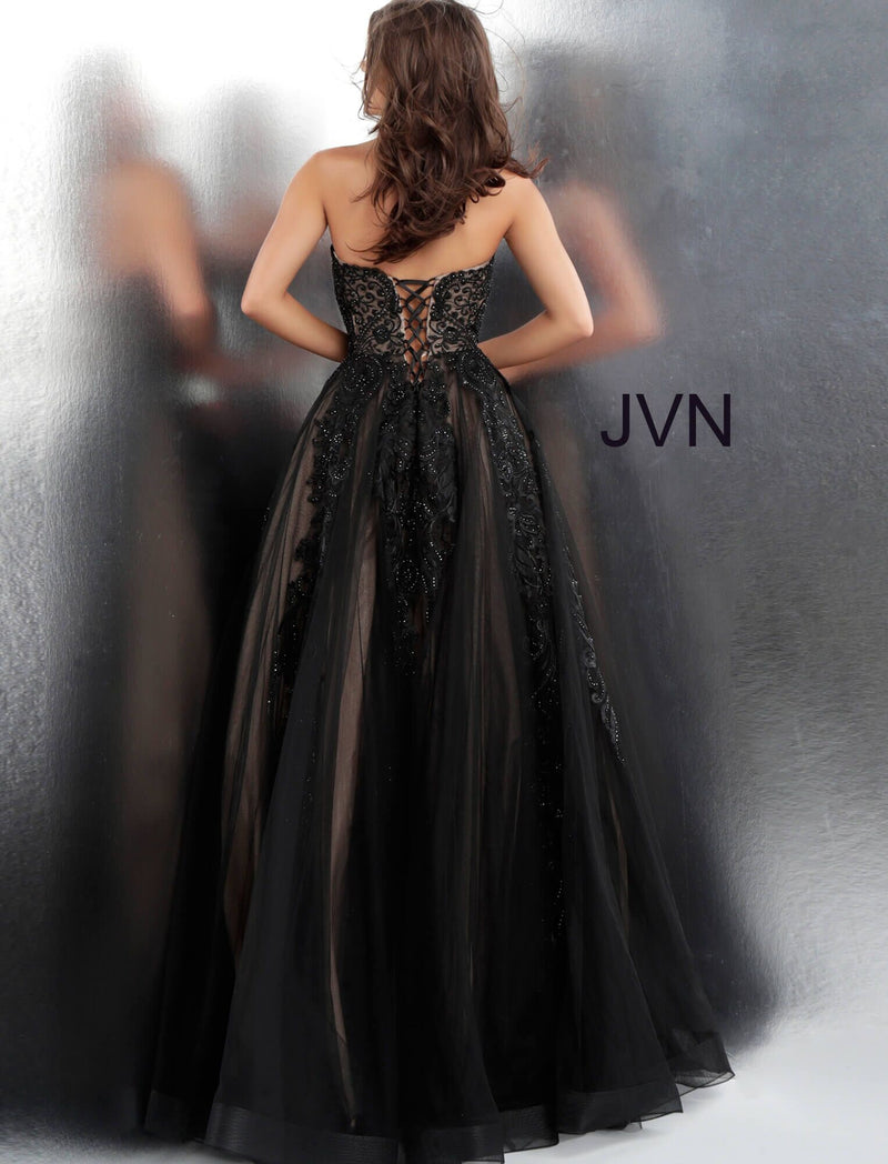 JVN by JOVANI Embroidered Strapless Ballgown JVN66970 - CYC Boutique