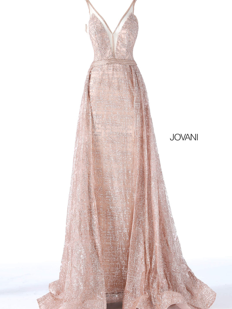 JOVANI 62515 Glitter Embellished Dress with Overskirt - CYC Boutique