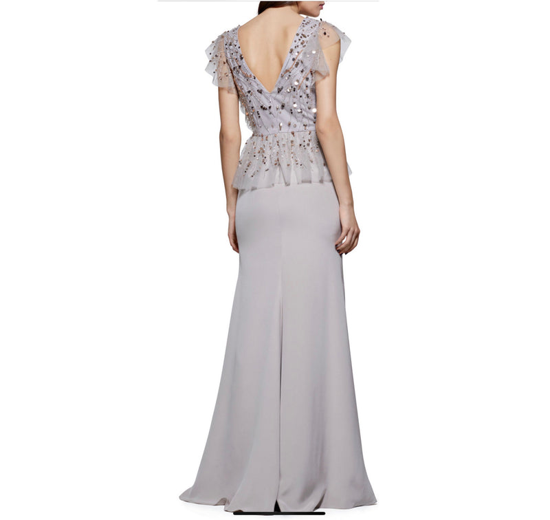 David Meister Crepe V-neck Gown - CYC Boutique