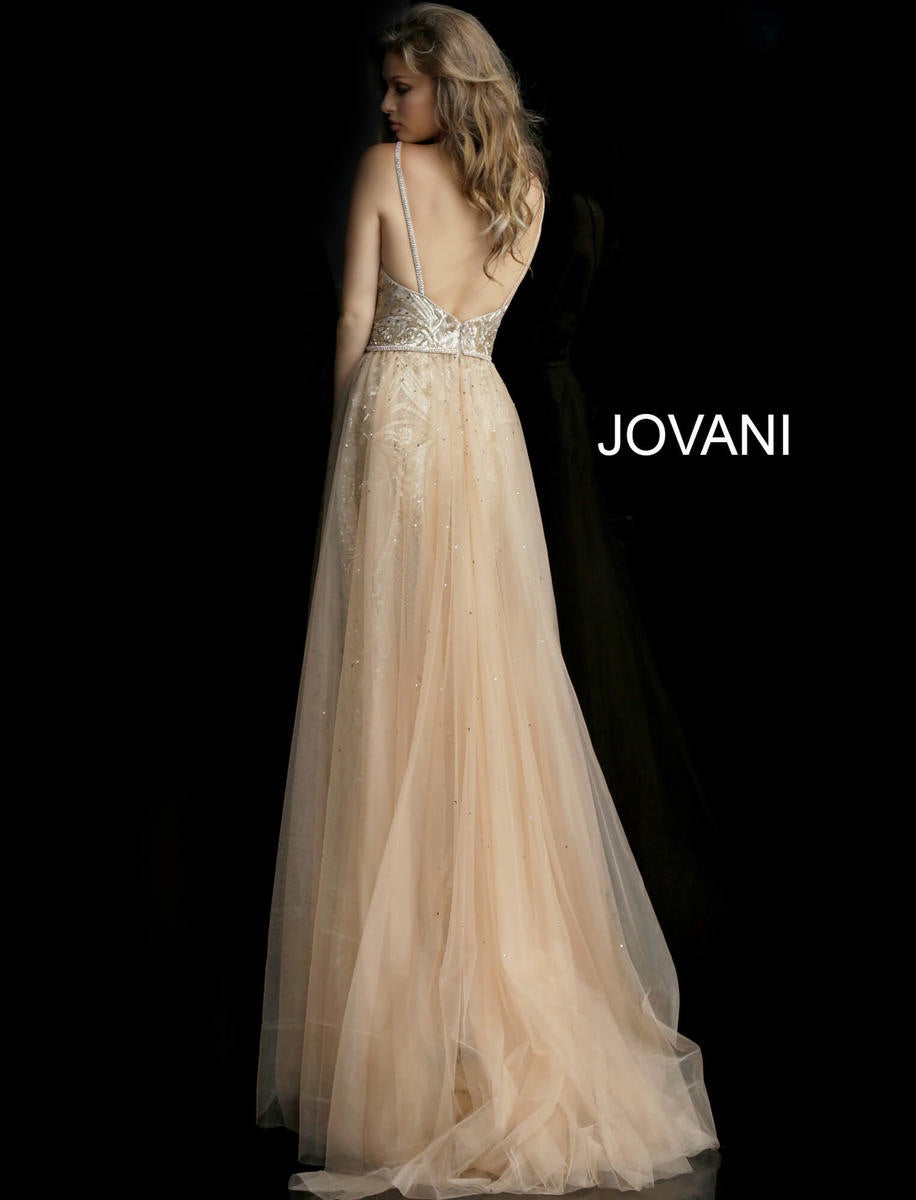 Jovani 62630 Gold Embroidered Evening Gown - CYC Boutique