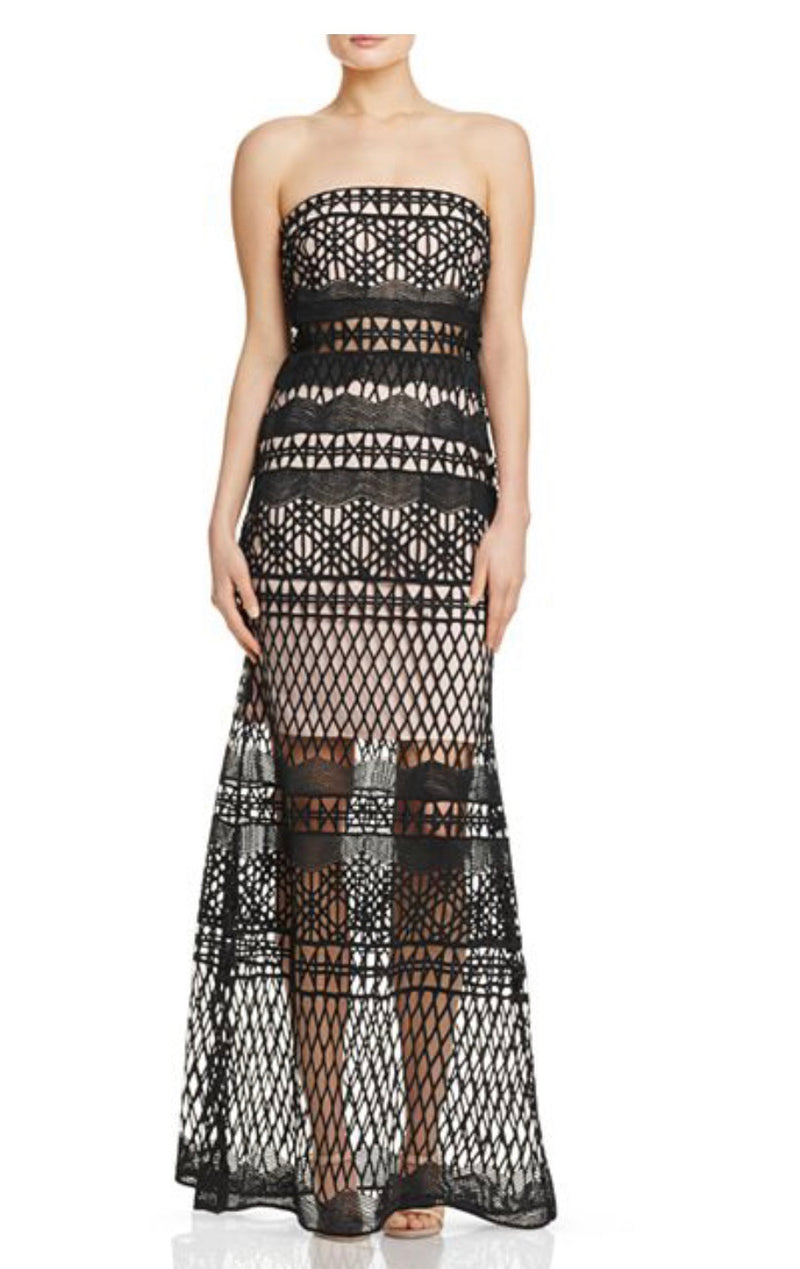 LM Collection Strapless Crochet Lace Gown - CYC Boutique