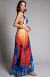 Sunset Abstract Open Back Maxi Dress - CYC Boutique