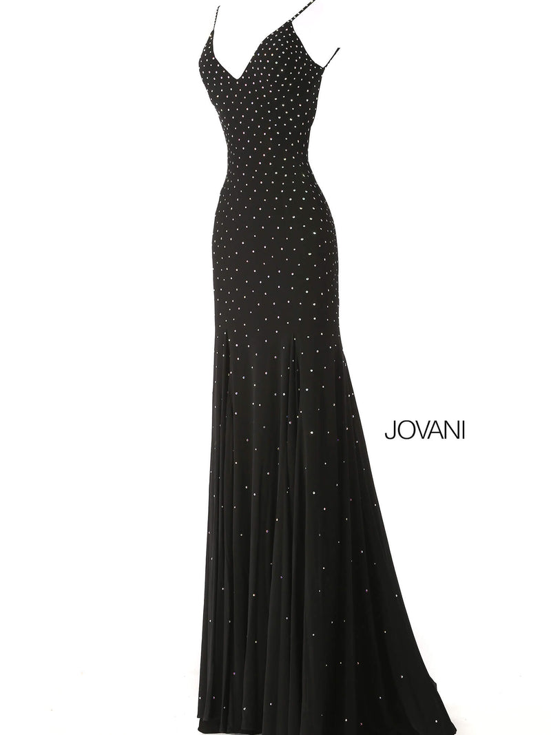 JOVANI 63563 Embellished Backless Dress - CYC Boutique