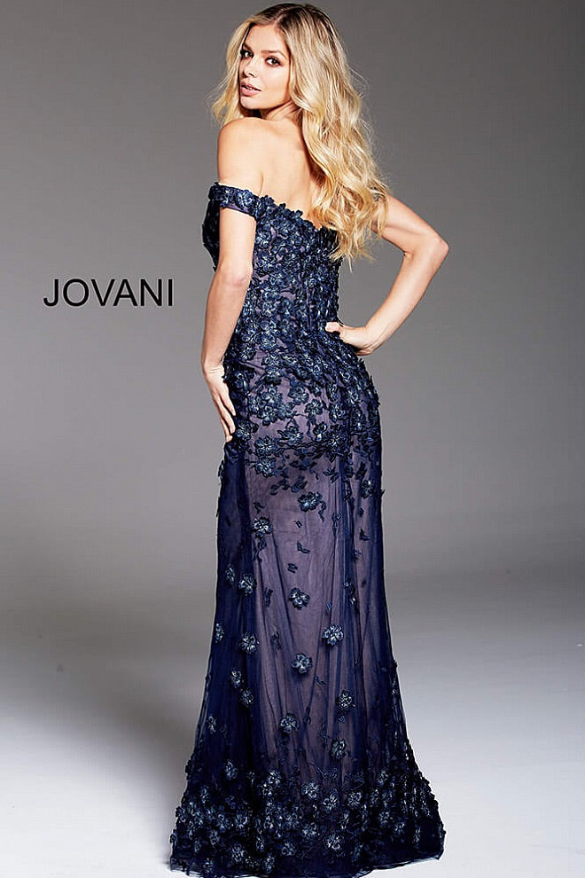 JOVANI 59742 Embellished Off the Shoulder Formal Dress - CYC Boutique