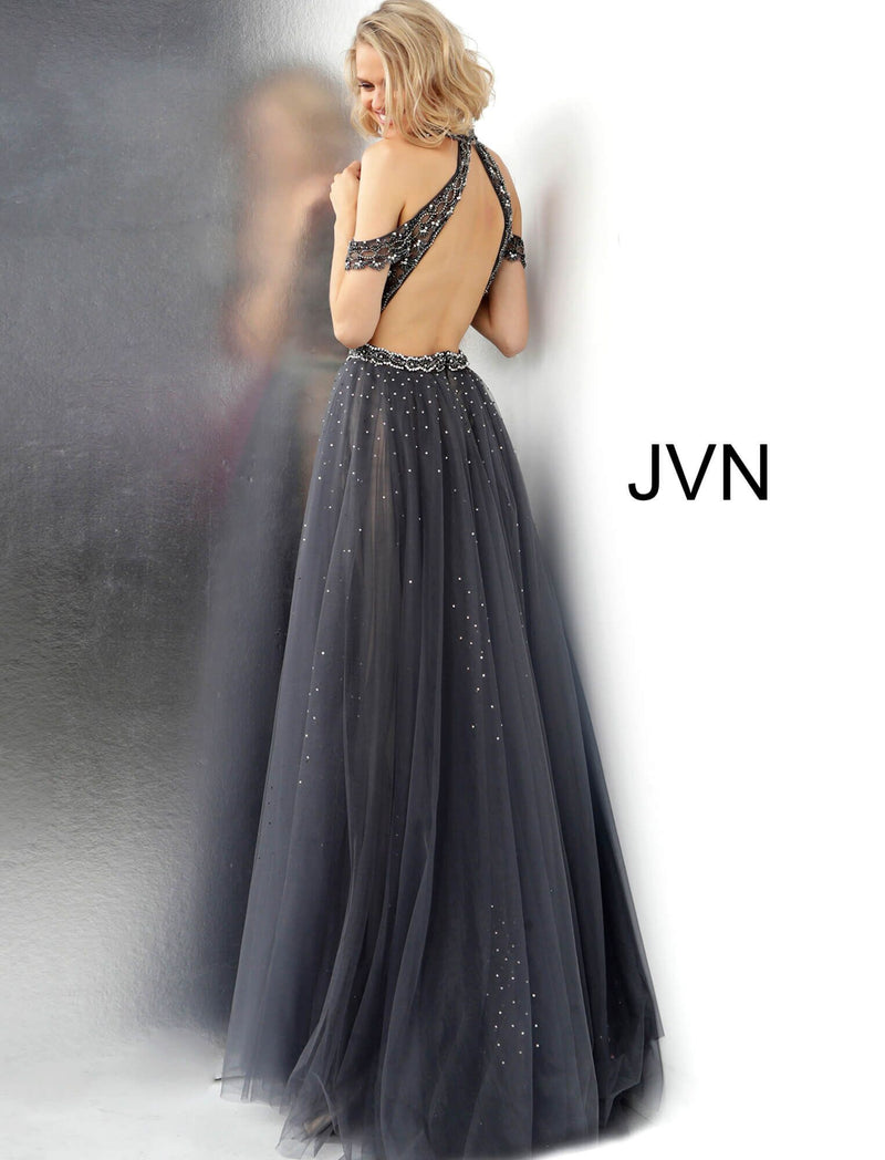 JOVANI JVN60456 Beaded Tulle Overskirt - CYC Boutique