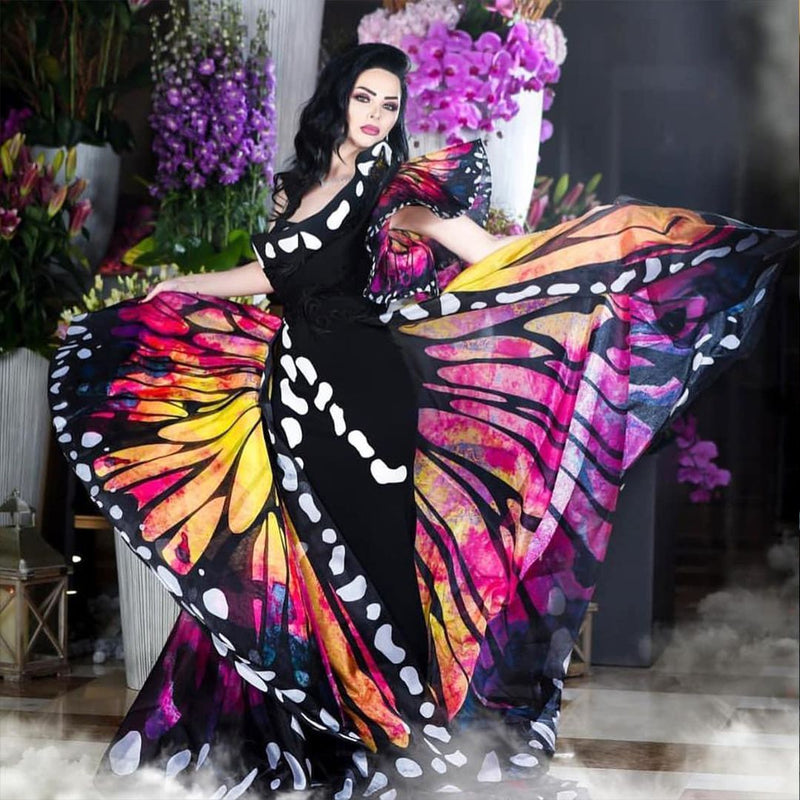 MNM Couture 2381 Fouad Sarkis Butterfly Inspired Gown