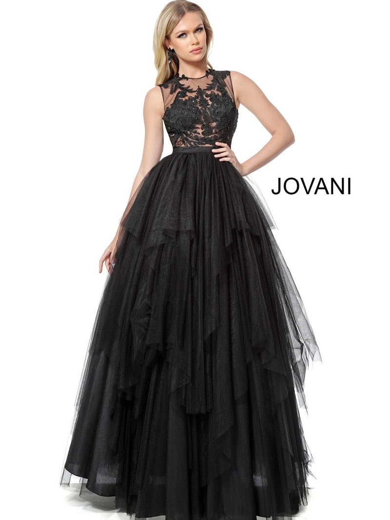 JOVANI 68364 Embellished Bodice Evening Ballgown - CYC Boutique