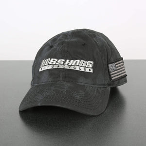 Black Boss Hoss Cap with chrome logo