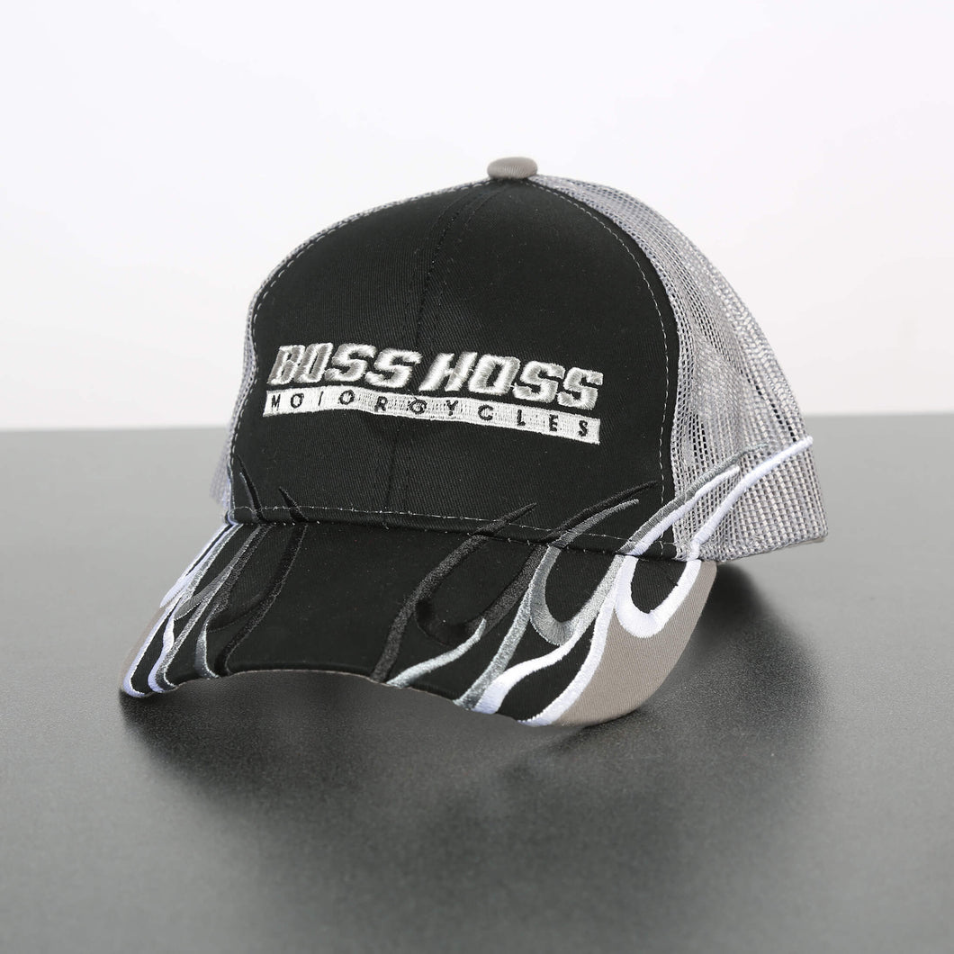 Black Flame Boss Hoss Cap  OUT OF STOCK
