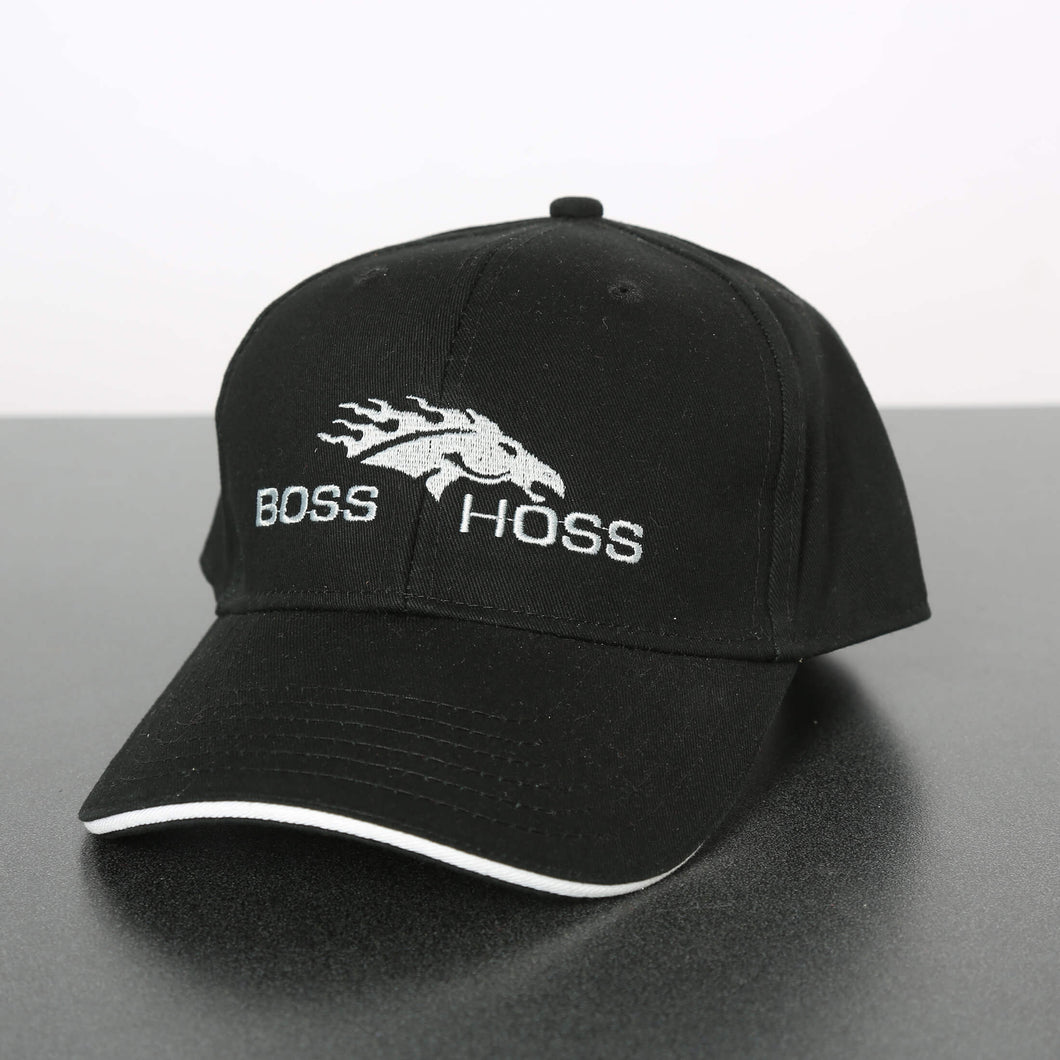 Black Boss Hoss Cap with Horsehead - OUT OF STOCK
