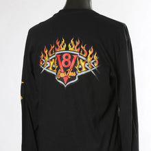 Load image into Gallery viewer, Black Long-sleeve Boss Hoss Flame Shirt XL & 2X OUT OF STOCK