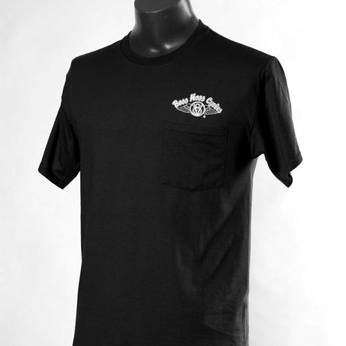 Black Boss Hoss Pocket Tee