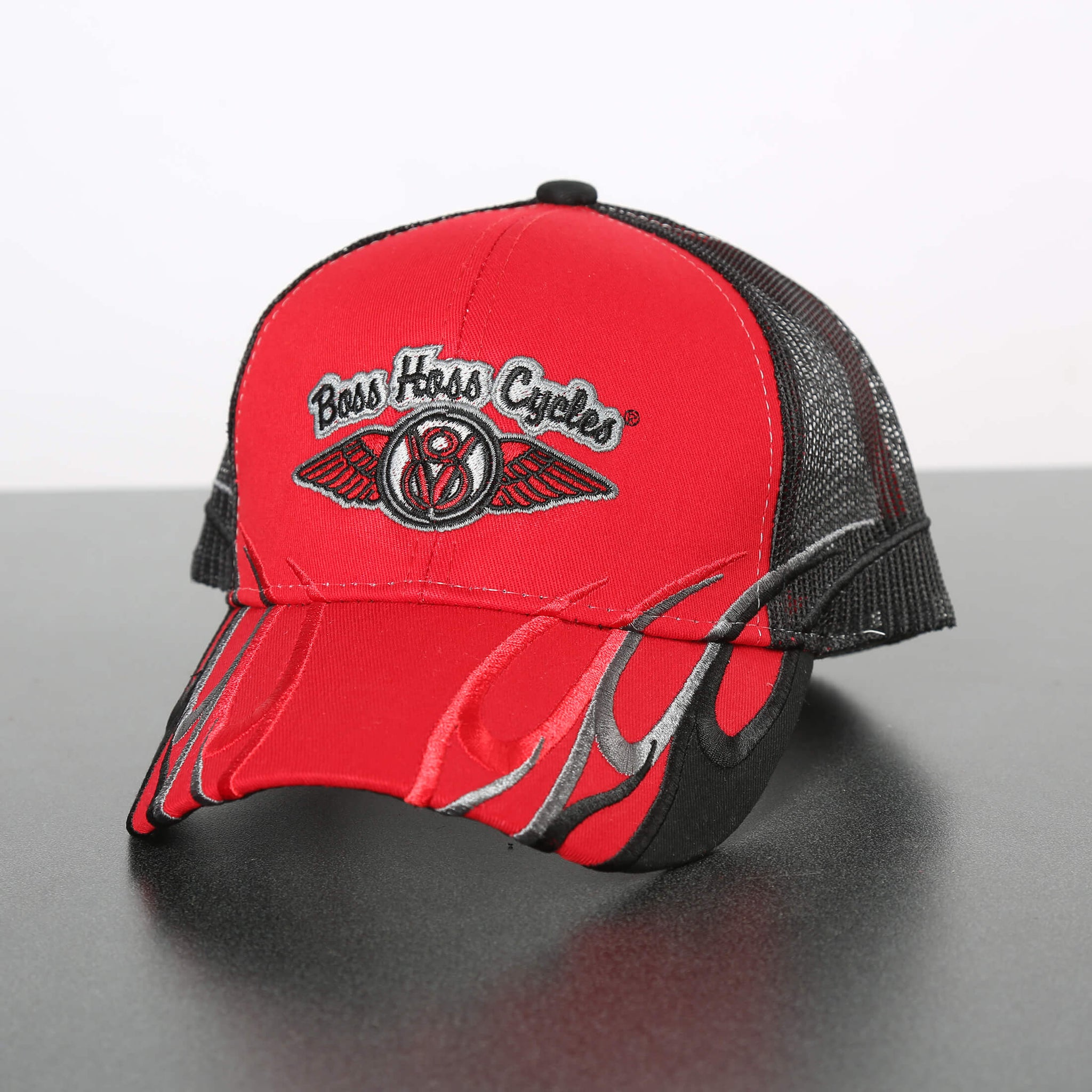 Red Flame Boss Hoss Cap OUT OF STOCK