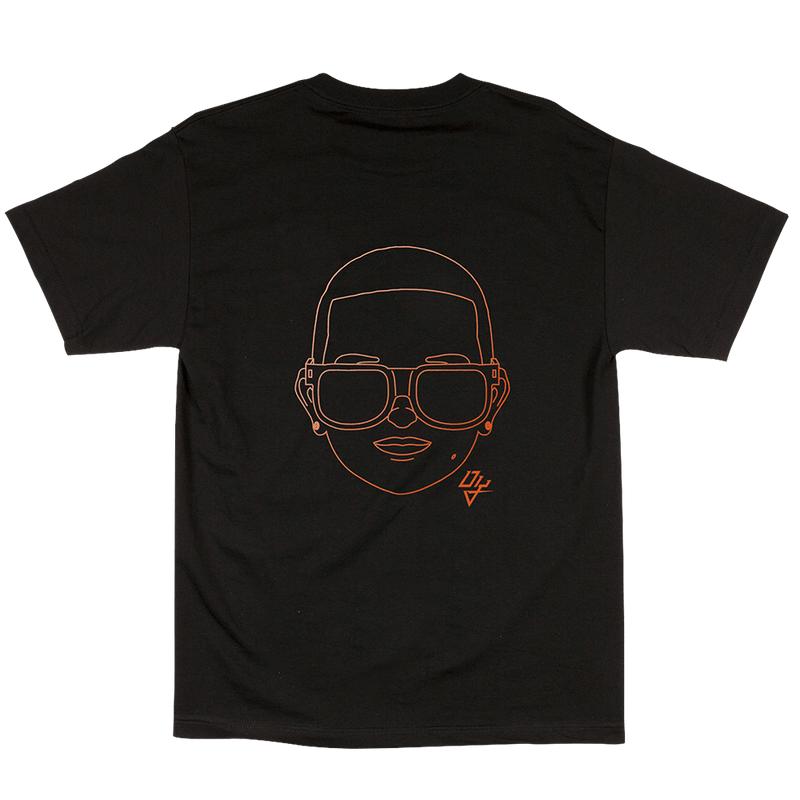 Neon Orange Emoji Tee Black