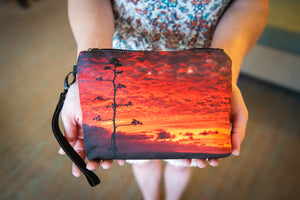 """Maliko Gulch Sunset"" Medium Canvas Zippered Carry All"