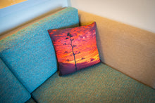 "Load image into Gallery viewer, ""Maliko Gulch Sunset""  Linen Throw Pillow Cover"