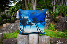 "Load image into Gallery viewer, ""Puamana Sunset""  Linen Throw Pillow Cover"