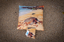 "Load image into Gallery viewer, ""Honu"" Linen Throw Pillow Cover"