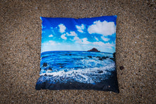 "Load image into Gallery viewer, ""Hana Coast Line"" Linen Throw Pillow Cover"