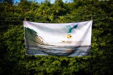 "Load image into Gallery viewer, ""Peahi/Jaws BIG Surf"" Microfiber Suede Towel"