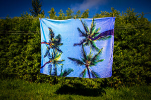 """Sky Palm Trees"" Ultra Soft Multi Purpose Fleece Blanket"