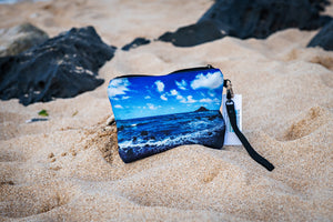 """Hana Coast Line"" Medium Canvas Zippered Carry All"
