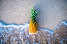 "Load image into Gallery viewer, ""Pineapple & Ocean"" Medium Canvas Zippered Carry All"