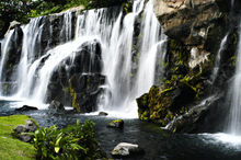 "Load image into Gallery viewer, ""Maui Waterfalls"" Linen Throw Pillow Cover"