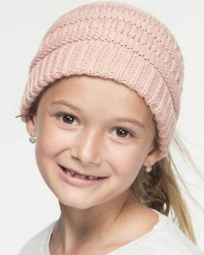 Handmade Knit Ponytail Beanies for Kids - New Pretty Finds 5c34cbbf8ff