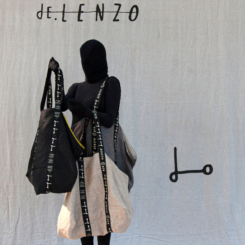 Shopper bag XXL- NEGRA - dE.LENZO