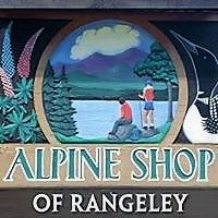 Alpine Shop of Rangeley Maine sign