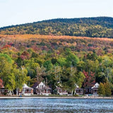 Lakeside cabins at Bald Mountain Camps, Rangeley, Maine