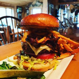 Burger at Bald Mountain Camps in Rangeley,Maine