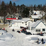 Aerial of Lakeside Convenience, Rangeley Maine