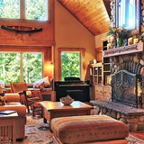 Interior of cabin lodge on Rangeley Lake, Maine, Morton Furbush vacation rentals