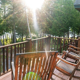 Porch of cabin lodge on Rangeley Lake, Maine, Morton Furbush vacation rentals