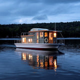 JUST ADD WATER FLOATING CAMPS Houseboat