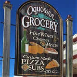 Sign of Oquossoc Grocery, Rangeley, Maine