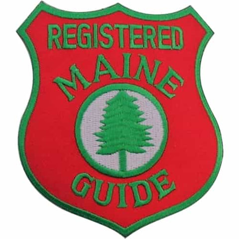 Registered Maine Guide badge, Bald Mtn Camps Guide Service Rangeley, Maine