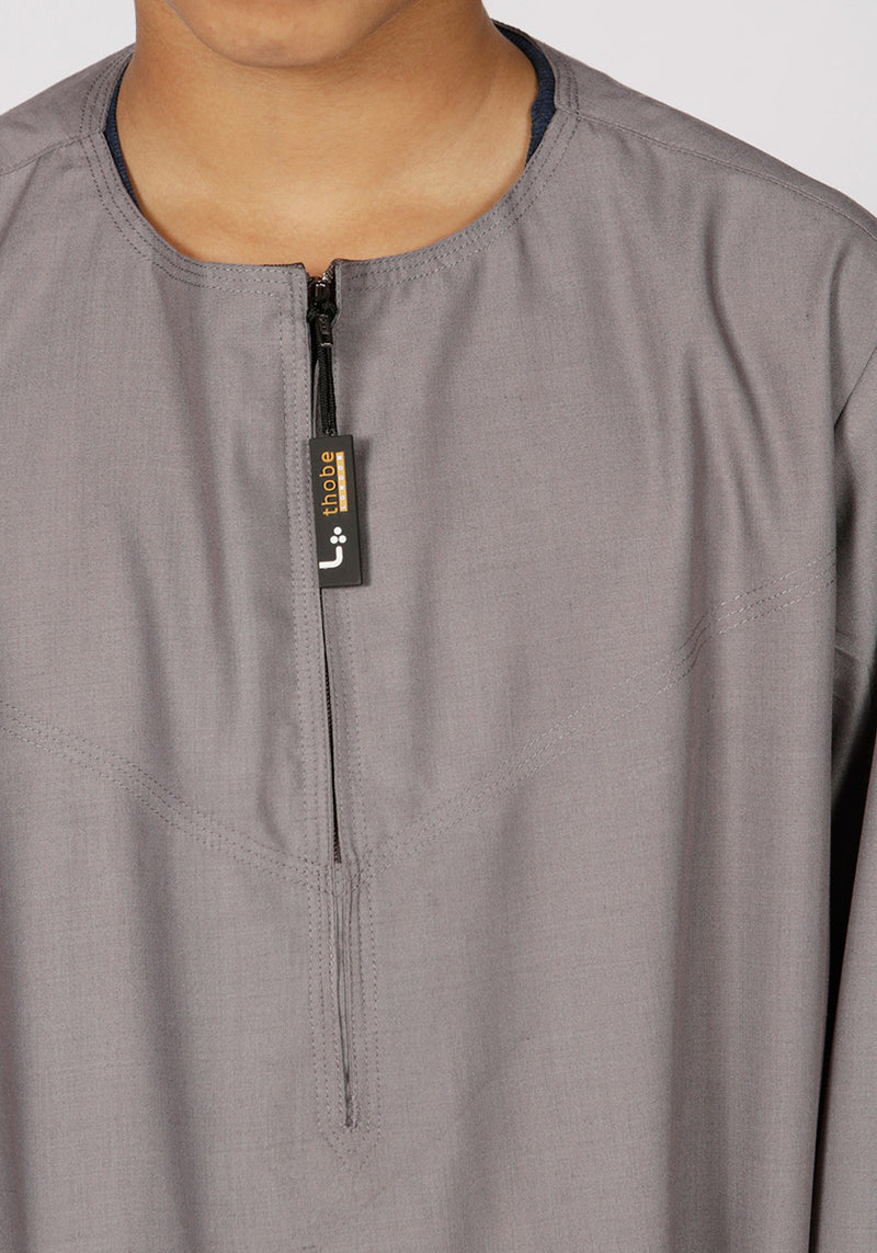 Omani Kids Thobe (Grey) - Thobe London