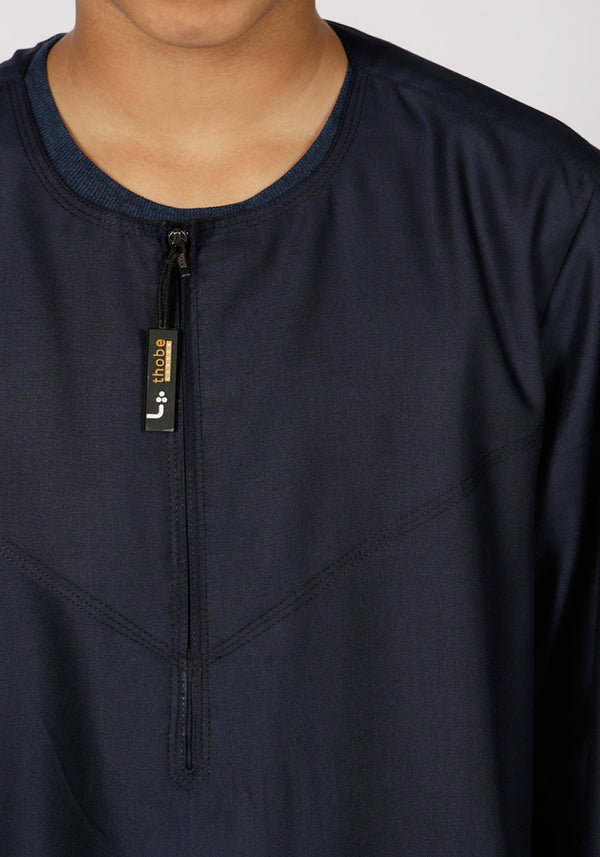 Omani Kids Thobe (Navy) - Thobe London