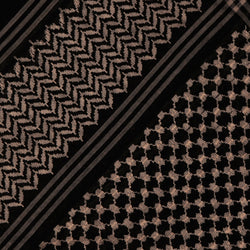 Arabian Black headscarf with Premium Embroidery Shemagh