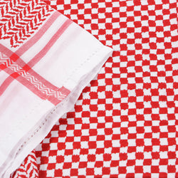 Saudi Arabian Red and White Shemagh headscarf - Thobe London