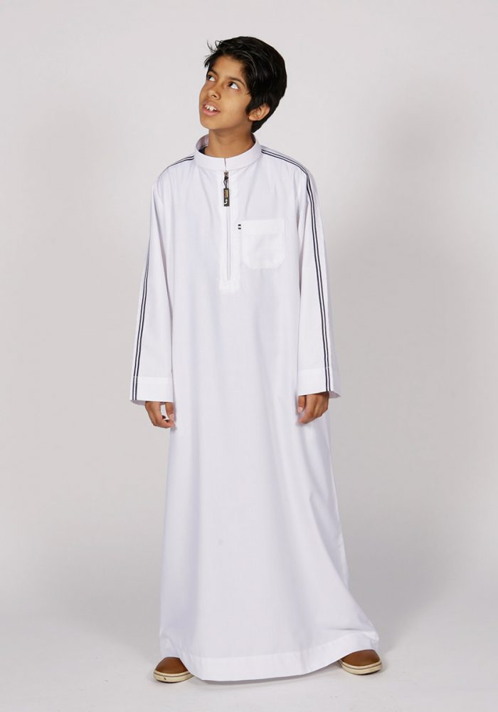 Kids Sport Stripe Jubba - Thobe London