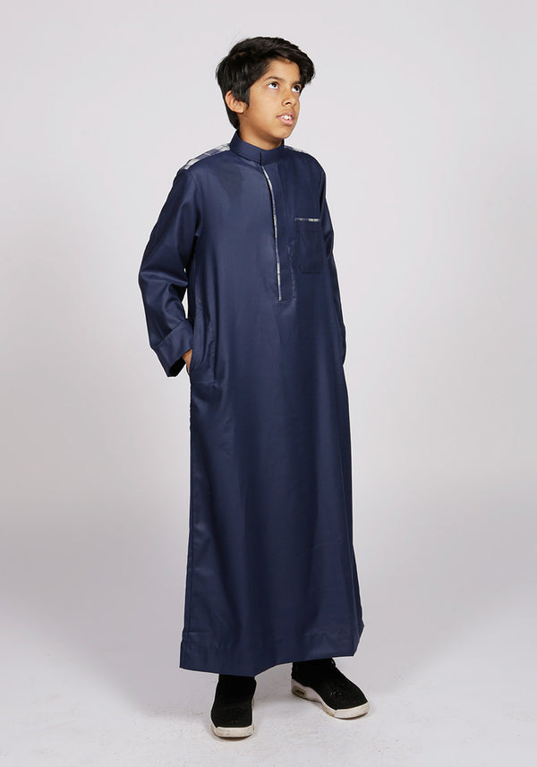 Navy Casual Kids Thobe - Thobe London