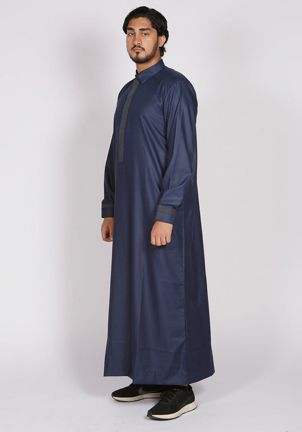 Smart Navy Premium Saudi Thobe - Thobe London